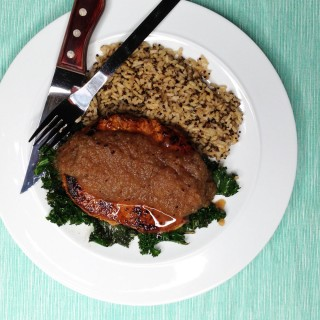 Chipotle Pork Chops With Maple Apple Sauce