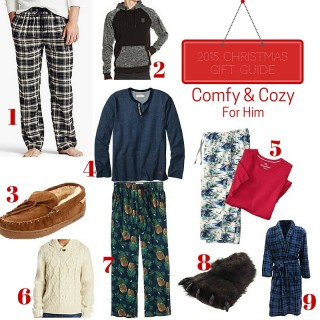 Gift Guide 2015: Cozy Comfort (For Him)