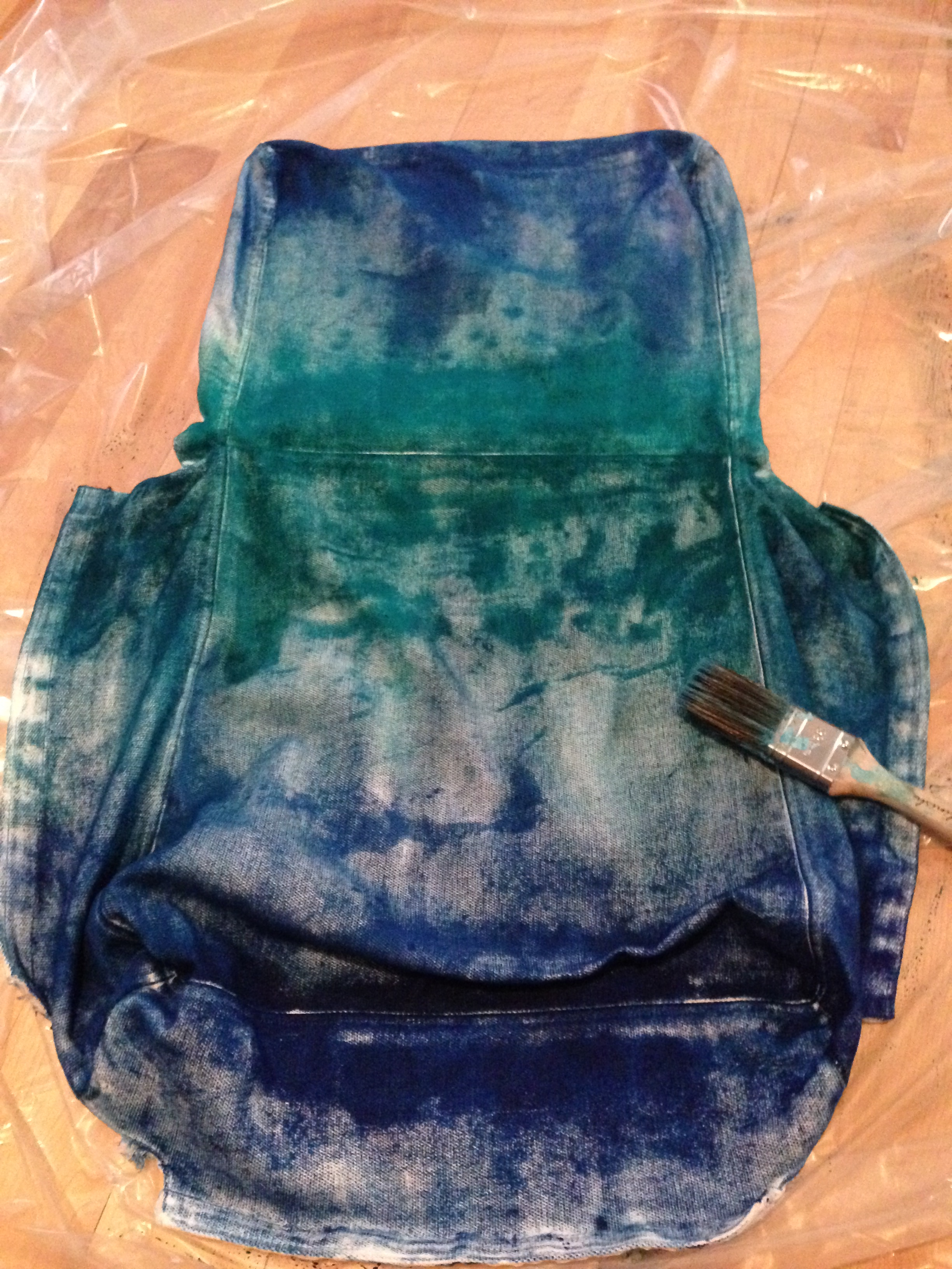 Tie-dying the chair covers