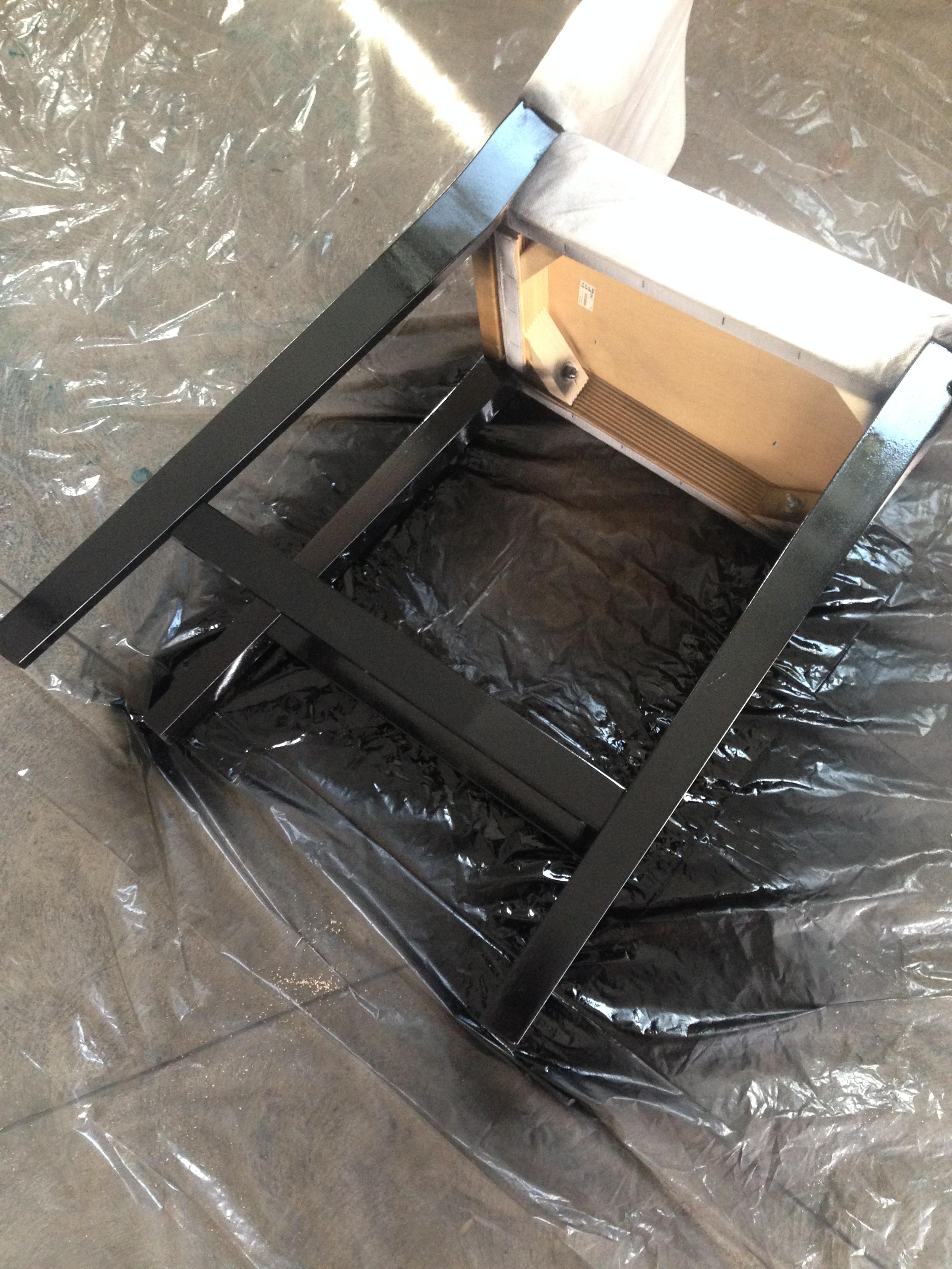 Spray painted bar stool