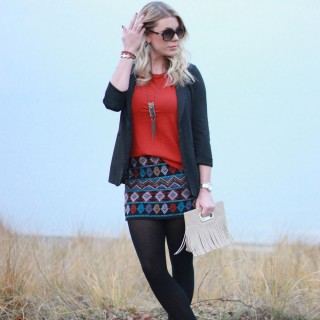 Holiday Outfit Inpiration #1: Sequined Skirt & Blazer