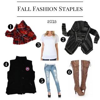 Fall Fashion Staples 2015