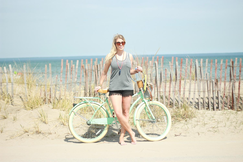 beach bike ride