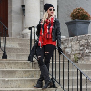 Chic Black and Red