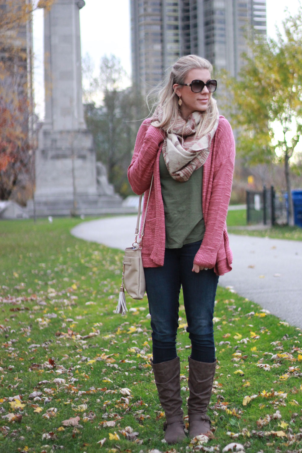 Cozy pink sweater