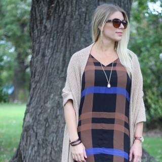 Plaid Shift Dress