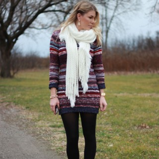 Holiday Outfit Inspiration #3: Striped Sweater Dress