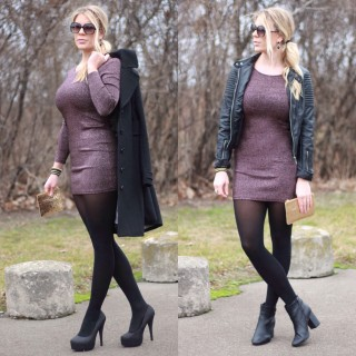 Holiday Outfit Inspiration #2: Sparkly Dress 2 Ways