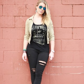 Cropped Jacket & Studded Boots